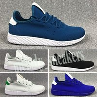 Adidas Tennis HU Sommer Reflective Static PW Pharrell Williams x Stan Smith Tennis Hu Primeknit Ober Männer Frauen Breathable Jogging-Schuhe EUR m03 Lauf