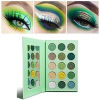 Green Smokey Eye Shadow Matte et Glitter Palettes de maquillage très pigmentées à paupières jaune Violet bleu 15 Couleur Crème Brillant Creme Palette