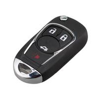 자동차 스타일링 4 버튼 시보레 Cruze Aveo Uncut 블레이드 HU100 원격 키 FOB 케이스에 대한 접는 키 쉘을 뒤집기