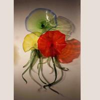 تصميم جديد الحديثة الزجاج المنفوخ لوحة جميلة الفن نمط غرفة المعيشة في مهب زجاج مصباح الجدار أناقة الزجاج حرفة جدار الثريا