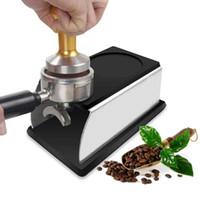 Mickle Stal nierdzewna Silikonowa mata Sabotażowa Espresso Kawa Sabotaż Stojak Utrzymywanie Uchwyt Tamping Stojak Barista Narzędzie Akcesoria do kawy