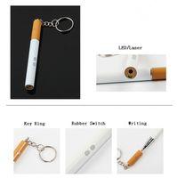 مفتاح سلسلة LED مصباح يدوي 3 في 1 تصميم سيجارة LED أضواء مع القلم الليزر الأحمر كتابة الشعلة