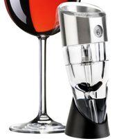 Nouveautés Aérateur de vin réglable à 6 vitesses Aérateur de vin aérant rapide Aiguille à vin rouge Whisky Magic Magic Aerator Bec verseur avec support