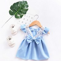 2019 New Summer hot style girls dress back hollowed- out baby...