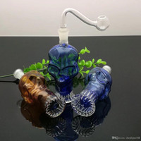 مصغرة اللون الجمجمة زجاجة المياه الزجاج تتوقف الدقات الزجاج النفط الموقد زجاج أنابيب المياه منصات النفط التدخين الحفارات الحرة