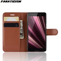 Luxus-Leder-Standplatz-Mappen-Schlag-Telefon-Abdeckung für Sony XZS XZ1 XZ2 XZ3 XZ4 Compact Premium-XA2 XA1 Plus Ultra L2 Phone Cases