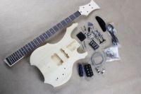 Fabrika Özel Sıradışı Şekil Elektrik Bas Gitar Seti (Parçalar) 4 Strings ile, Krom Donanım, DIY Bas Gitar, Teklif Özelleştirilmiş