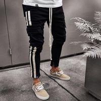 Hommes Joggers Cargo Pantalons simple Skinny Crayon Pantalon Automne Workout homme piste Pantalons Streetwear Hip Hop Jogger pantalon de l'homme