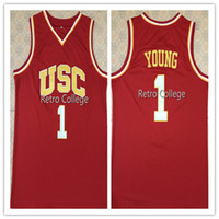 9b10993b1  1 Nick Young USC Retro Top College Basketball Jersey All Size Stitched  Customize any number and name XS-6XL vest Jerseys NCAA