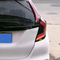Car Styling feux arrière pour Honda Jazz Fit GK5 2014-2018 Led feux arrière arrière phares antibrouillard lampe arrière DRL + frein + parc + __gVirt_NP_NNS_NNPS<__ Les feux de signalisation