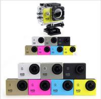 copia barata para el estilo SJ4000 A9 2 pulgadas de pantalla LCD de la cámara de mini cámara de los deportes 1080P HD Acción 30M impermeable DV deporte Videocámaras Casco