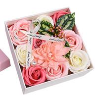 f986d5b344f Hi kenty Printemps Nouvelle Main Creative Savon Fleur Boîte De Fleurs Saint  Valentin Rose Cadeau