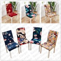 40 تصاميم فلورا الطباعة كرسي يغطي دنة الغلاف القابل للإزالة غطاء كرسي تمتد تناول الطعام مقعد يغطي حفلات الزفاف الديكور E31402