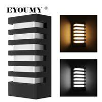 eyoumy LED 벽 램프 Sunsbell 현대 알루미늄 COB 15W 빛 IP65 방수 벽 Sconce - 야외 벽 정착물 (15W-warm 흰색) DHL