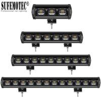 6D Single Lens Ligne 7 '' 20 '' 33 '' 40 pouces LED Light Bar pour Jeep 4x4 Offroad 4 roues motrices camion SUV 12V 24V Remorque étanche