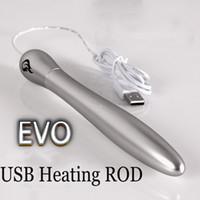 EVO의 USB 난방로드 스마트 온도 조절기 남성 Masturbators 음모 질 인형, 리얼 따뜻한 애널 구강 음모, 섹스 토이 MX191228 42 개 학위