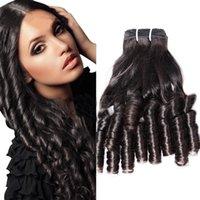 벨라 브라질 재미있는 머리카락 자연 색상 물결 모양의 탄력 봄 컬 Extensions 3pcs / lot 공장