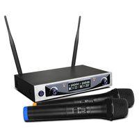 MU-898 UHF doppio display LCD per microfono wireless per scheda audio registrazione in studio Box TV Mixer audio Mixer altoparlante per computer conferenza