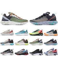 2019 New React Element 87 zapatillas de running para hombre mujer Sail Royal Tint Anthracite VOLT RACER PINK Zapatillas deportivas para hombre Trainer 36-45