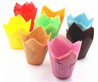 Tazze di carta da forno Cupcake Wrapper per tazze di muffin Colorate anti-olio Forma di fiamma Cottura Cupcake Cup Cake di carta