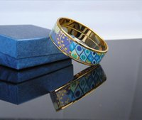 Neue Sea Blue Heart Series 18K vergoldetem Emaille Armreif Für Frau Top Produktion Armbänder Armreifen Breite 20mm Modeschmuck