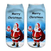 Chaussettes pour hommes 1 paire Hommes Cotton Santa Claus 3D Impression de dessin animé Christmas De Noël Femmes Low Cut Blonde Snowman Motif