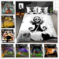 Set biancheria da letto di alta qualità Twin Full Queen Size 2 / 3pcs con federa Copripiumino Happy Halloween serie Bedding Suit