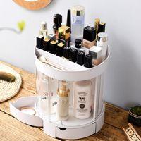 Neue Acryl Make-Up Veranstalter Kosmetik Schmuck Aufbewahrungsbox Lippenstift Rack Lidschatten Pinsel Container Schublade Display Boxen M04C