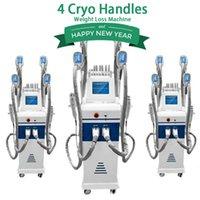 2019 nuovo grasso in piedi congelamento crio snellente macchina crioterapia liposuzione macchina 4 maniglie Cyro lavorano insieme