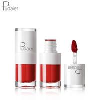 Pudaier ماتي السائل أحمر الشفاه طويل الأمد ترطيب أحمر الشفاه ماء الشفاه البسيطة الحلوى اللون الأحمر بورجوندي شفاه ماكياج