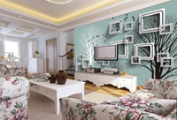 Custom Wallpaper 3D Creative Living room 3D abstract branch ...