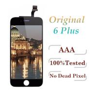 100% original LCD para iPhone 6 Plus Pantalla táctil Pantalla digitalizador Asamblea Negro Blanco DHL gratis