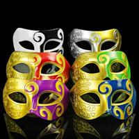 Halloween Party Facciale Mascherade Masks Casellana Funny Jazz Dance Party Mask Mezza faccia trucco barone uomo maschera