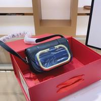 Frauen-Mappen-Geldbeutel-Handtaschen-Schulter-Beutel Metall Mark Plain Haspe Neues Kunstwerk Big V Brief Frauen Flap Geldbörse echtes Leder
