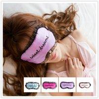 Morbido pelo per dormire Maschera per gli occhi Pizzo regolabile Paralume per pelo Copricapo Benda Viaggi Riposo Patch Blinder Ombretto in raso