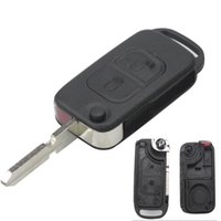 Кнопки автомобилей дистанционного Складной FLID Key Shell Обложка для Mercedes Для Benz B200 A160 W124 W202 W210