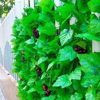 화환 2.3m 20 녹색 잎 인공 생생한 포도 나무 등나무 잎 질 잔디 식물 포도 집 정원 파티 장식 공장 가격 전문가 디자인 품질 최신