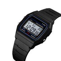 Lüks Adam İzle Silikon LED Saatler Alarm F 91 W Dijital Saat F91 W Öğrenci Moda Kol Hediye Için
