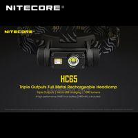 Фары Золотой Победитель 2021 ISPO Award Nitecore HC65 Cree XML2-U2 LED 1000 Люмен Тройной вывод Аккумуляторная фара с литий-ионным аккумулятором