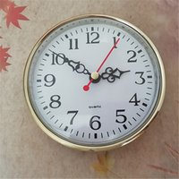 Comercio al por mayor CE 5PCS Out Diameter 110mm Gold Built - in Craft Quartz Clock DIY FIT-UP Envío gratis