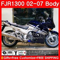 Body For YAMAHA FJR-1300 FJR1300 01 02 03 04 05 06 07 FJR1300A Blue silvery Hot 120HM.31 FJR 1300 2001 2002 2003 2004 2005 2006 2007 Fairing