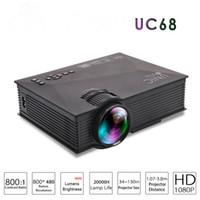 Original Unic UC68 Airsharing Theatre Multimedia Projector Mini-LED-Projektor mit Full HD 1080P-Video