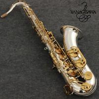 Yeni Tenor Yanagisawa T-WO37 B Düz Tenor saksafon silvering Altın anahtar müzik Enstrüman Saksafon Profesyonel seviye Ücretsiz kargo