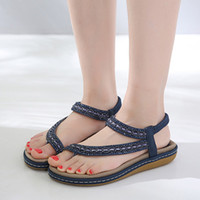 Hot Sale- Bohemian Style Women Sandals Rhinestone Flip Flops ...
