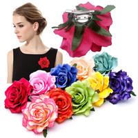 18 Colors Girls Flower Hair Accessories For Women Bride Beach Rose Floral Hair Clips DIY Bride Headdress Brooch Wedding Flores Hairpin