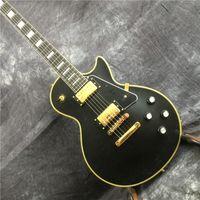 Hecho a mano. guitarra Relic, LP negro guitarra eléctrica. envío gratis
