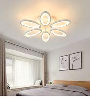 di alta qualità acrilico bianco principali moderne luci a soffitto per il salone lampada moderna del soffitto illumina Dia530mm H100mm 120W 6 teste
