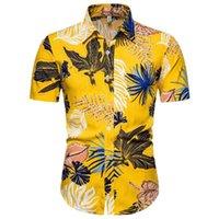 Drôle d'impression hommes shirt Hip Hop Casual Streetwear Hawaï imprimé floral élégant à manches courtes Blusa Nouveauté Fleurs Streetwear Chemises
