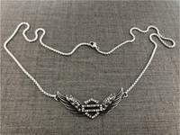 Apoye a Dropship Nuevo Collar de pulsera de motocicletas de alas de cristal 316L Moda de motorista de acero inoxidable Alas de ángulo Pulsera de niñas