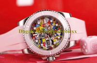 3 Stijl 40mm Unisex Crown Watch Heren Automatische Ontmaningen Mannen Roze Keramische Bezel Color Mother Pearl Dial Dive Rubber Dames Oysterflex Horloges